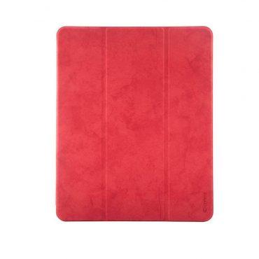 كفر جلدي آيباد برو 12.9 إنش 2018 Comma Leather Case - أحمر