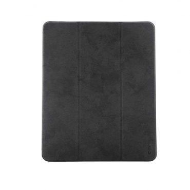 كفر جلدي آيباد برو 12.9 إنش 2018 Comma Leather Case - أسود