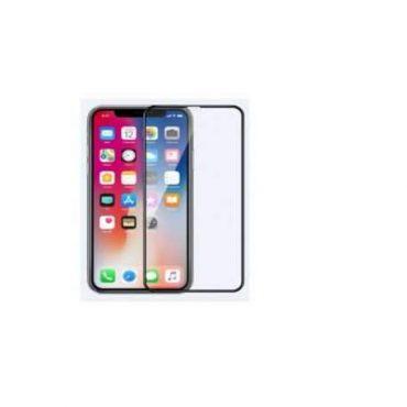 شاشة زجاجية واقية Comma Dun Full Screen Tempered Glass for iPhone 11 Pro Max - Black