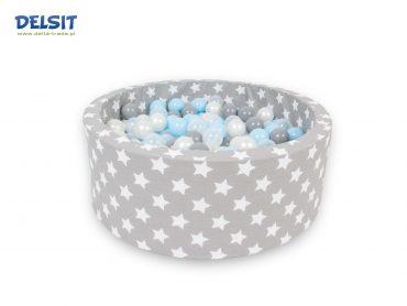 بركة جافة للأطفال Delsit - Dry Pool - W.White Stars - رمادي