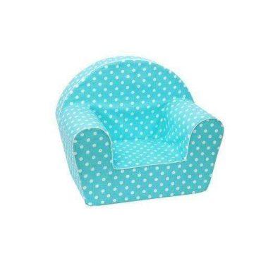 أريكة Delsit Arm Chair -  فيروزي مع بقع بيضاء