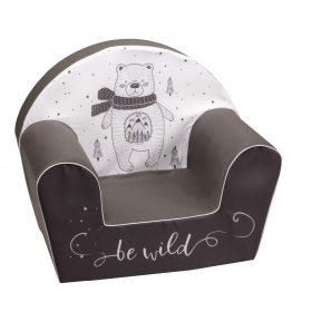 أريكة Delsit Arm Chair -  دب مع لون رمادي غامق