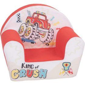 أريكة Delsit Arm Chair -  مركبة تحطيم السيارات مع لون أحمر