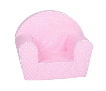 أريكة Delsit Arm Chair -  وردي مع نقاط البولكا