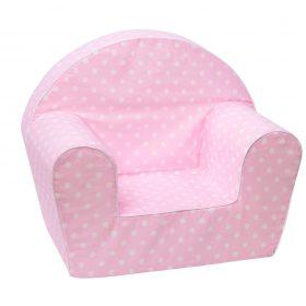 أريكة Delsit Arm Chair -  وردي مع نقاط بيضاء