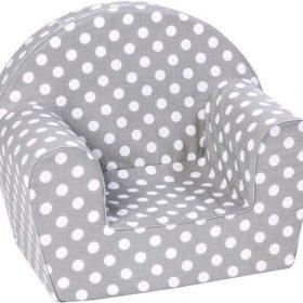 أريكة Delsit Arm Chair - رمادي مع نقاط بيضاء