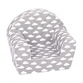 أريكة Delsit Arm Chair - رمادي برسومات غيوم بيضاء