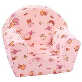 أريكة Delsit Arm Chair - لون وردي مع رسومات