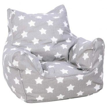 أريكة Delsit Bean Chair - رمادي مع نجوم بيضاء