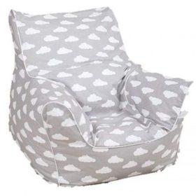 أريكة Delsit Bean Chair - رمادي مع غيوم بيضاء