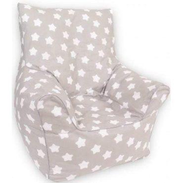 أريكة Delsit Bean Chair - رمادي مع نجوم