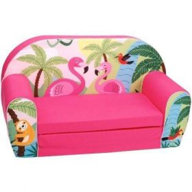 أريكة و سرير 2 في 1 Delsit Sofa Bed  - طائر الفلامينجو