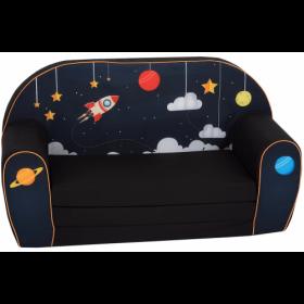 أريكة و سرير 2 في 1 Delsit Sofa Bed  - أزرق داكن كلون الفضاء
