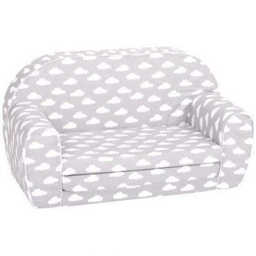 أريكة و سرير 2 في 1 Delsit Sofa Bed  - رمادي مع سحب بيضاء
