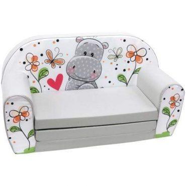 أريكة و سرير 2 في 1 Delsit Sofa Bed  - فرس النهر الرمادي
