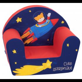 أريكة Delsit Arm Chair -  رائد فضاء مع لون أحمر