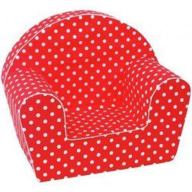أريكة Delsit Arm Chair - أحمر مع بقع بيضاء