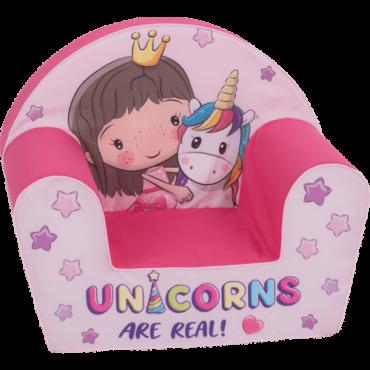 أريكة Delsit Arm Chair -  وحيد القرن مع طفلة صغيرة