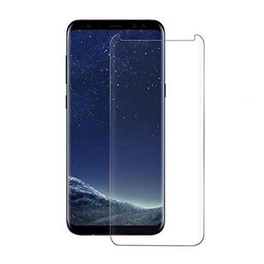شاشة حماية زجاجية لسامسونج S8  من Devia - شفاف
