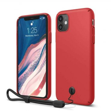 Elago Slimfit Strap Case for iPhone 11 - Red_x000D_