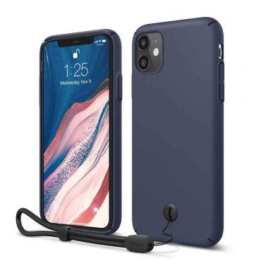Elago Slimfit Strap Case for iPhone 11 -  Jean Indigo_x000D_