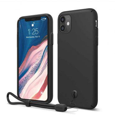 Elago Slimfit Strap Case for iPhone 11 - Black_x000D_