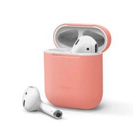 غطاء سيليكون  لسماعات Airpods  من Elago - قرنفلي