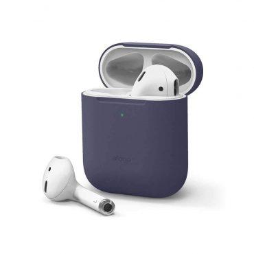 غطاء سيلكون  لسماعات Airpods  من Elago - أزرق غامق