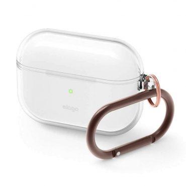 غطاء مع علاقة لسماعات Airpods Pro  من Elago - شفاف