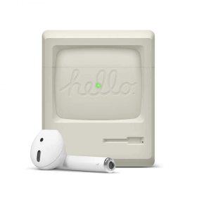 غطاء AW3 لسماعات Airpods من Elago - أبيض كلاسيكي