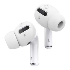 كفر سماعات برو Elago Airpods Pro Earbuds Cover Plus with Integrated Tips ( 6 Pairs ) - White