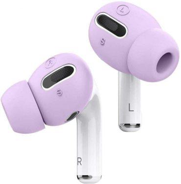 كفر سماعات برو Elago Airpods Pro Earbuds Cover Plus with Integrated Tips ( 6 Pairs ) - Lavender