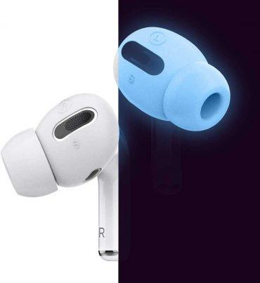 كفر سماعات برو Elago Airpods Pro Earbuds Cover Plus with Integrated Tips ( 6 Pairs ) - Nightglow Blue