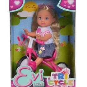 لعبة دمية مع دراجة ثلاثية العجلات SIMBA - EL Tricycle