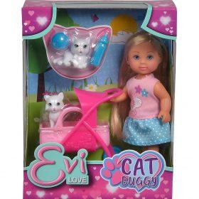 لعبة دمية مع عربة قطة SIMBA - EL Cat Buggy