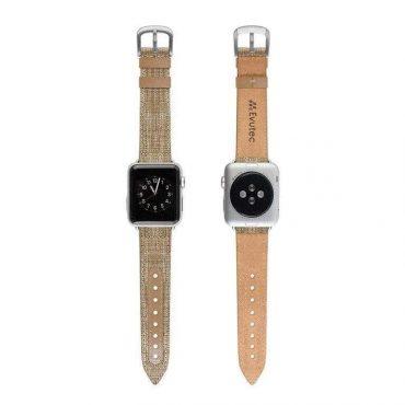 حزام ساعة أبل EVUTEC APPLE WATCH BAND 40MM - بني
