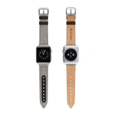 حزام ساعة EVUTEC APPLE WATCH BAND 40MM - أسود