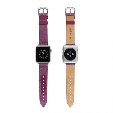 حزام ساعة EVUTEC APPLE WATCH BAND 40MM - بنفسجي
