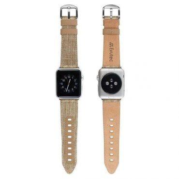حزام ساعة EVUTEC APPLE WATCH BAND 44MM - بني