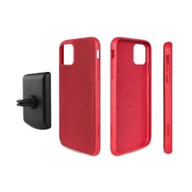 كفر موبايل EVUTEC AERGO BALLISTIC NYLON WITH AFIX IPHONE 11 Pro Max - أحمر