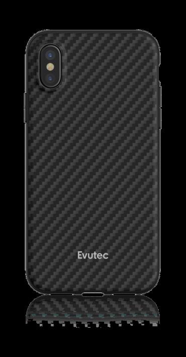 كفر موبايل EVUTEC AER KARBON WITH AFIX FOR IPHONE X & XS - أسود