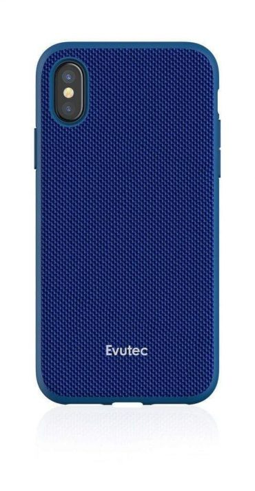 كفر موبايل EVUTEC AERGO WITH AFIX FOR IPHONE X & XS - أزرق