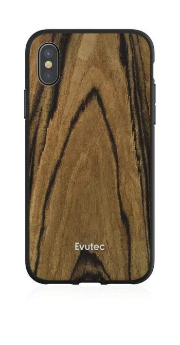 كفر موبايل EVUTEC AER ROSEWOOD WITH AFIX FOR IPHONE XS Max   - خشبي