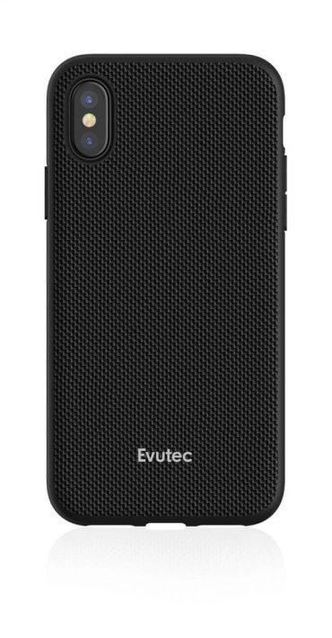 كفر موبايل EVUTEC AERGO BALLISTIC NYLON WITH AFIX IPHONE XS MAX  - أسود