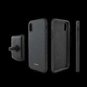 كفر موبايل EVUTEC AER KARBON WITH AFIX FOR IPHONE XR - أسود