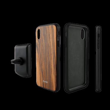 كفر موبايل EVUTEC AER ROSEWOOD WITH AFIX FOR IPHONE XR - خشبي
