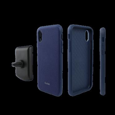 كفر موبايل EVUTEC AERGO BALLISTIC NYLON WITH AFIX IPHONE XR - أزرق