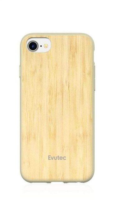 كفر موبايل EVUTEC AER WOOD WITH AFIX FOR IPHONE 8/7/6S/6 - خشبي