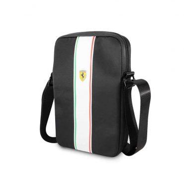 حقيبة تابلت نايلون Pista مع شعار فيراري مقاس 10 إنش من Ferrari - أسود