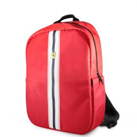 حقيبة ظهر Pista مع شعار فيراري مقاس 15 إنش مع كابل شحن من Ferrari - أحمر
